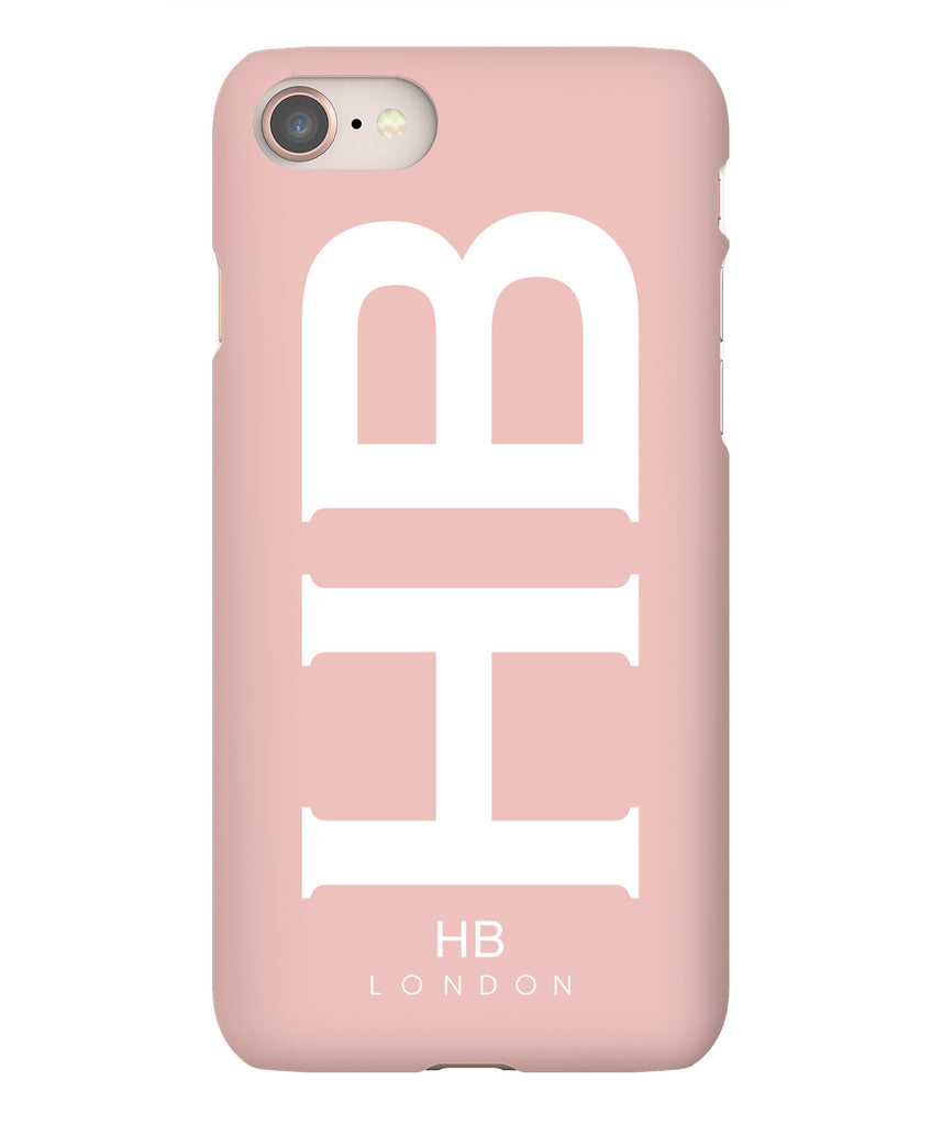 Personalised Nude Pink XL with White Font Initial Phone Case