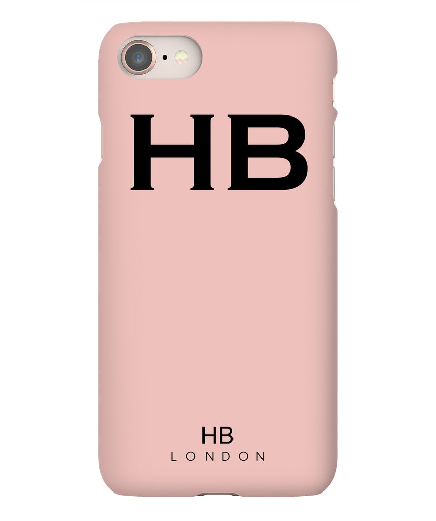 Personalised Nude Pink with Black Font Initial Phone Case