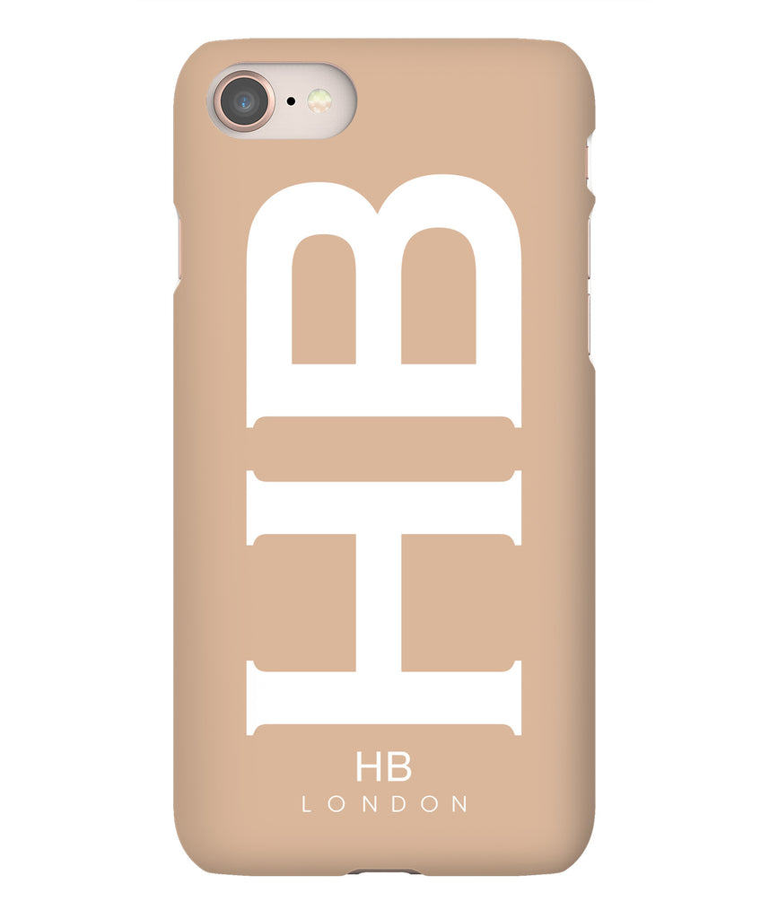 Personalised Nude XL with White Font Initial Phone Case