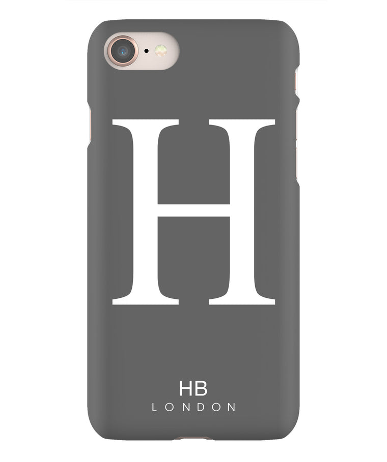 Personalised Slate Single Initial with White Font Phone Case