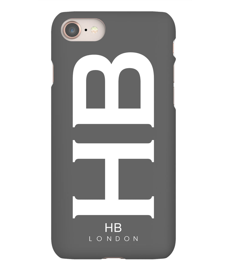 Personalised Slate XL with White Font Initial Phone Case