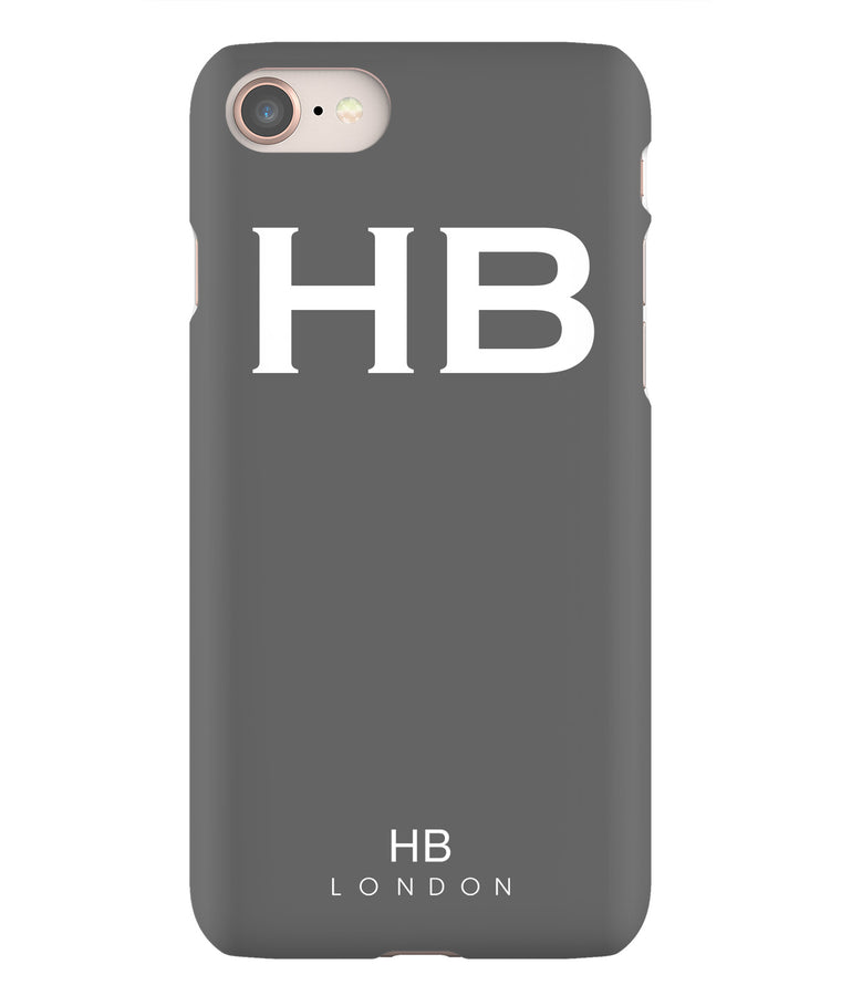 Personalised Slate with White Font Initial Phone Case