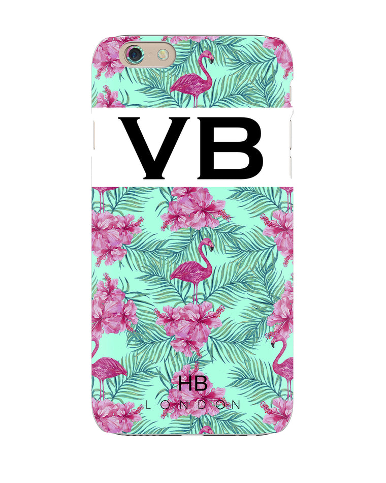 Personalised Tropical Initial Phone Case