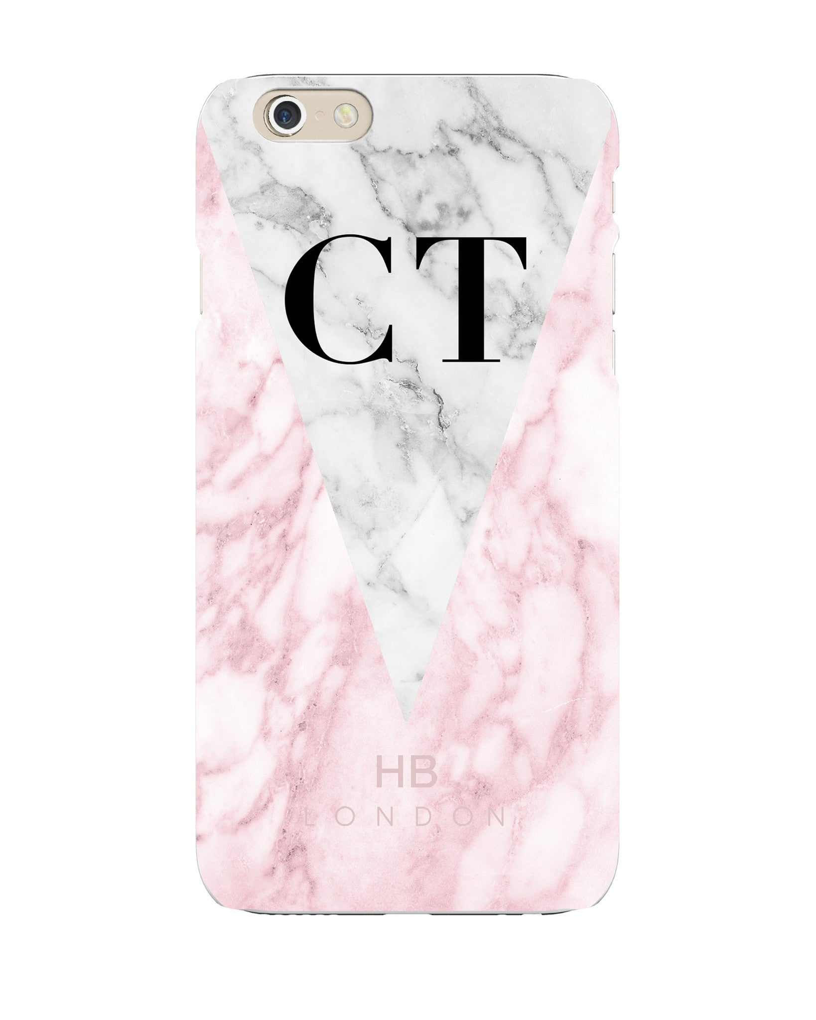 size 40 86779 57b2c Personalised Pink and White Marble Initial Phone Case