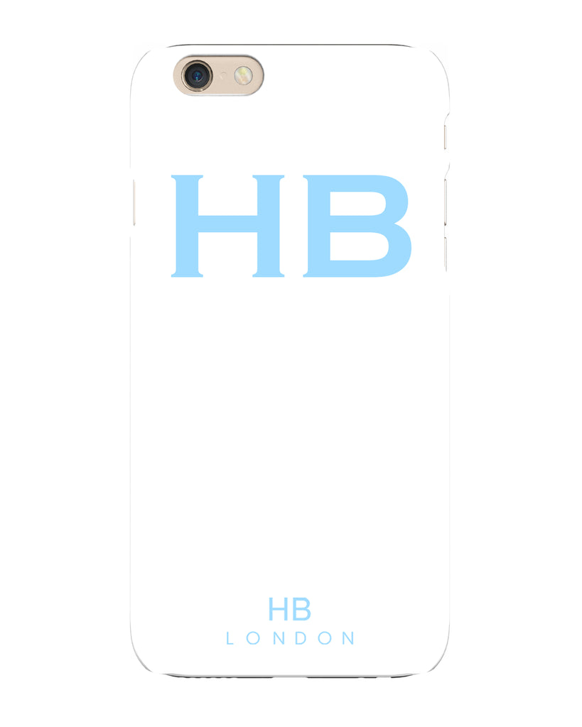 Personalised White with Blue Font Initial Phone Case