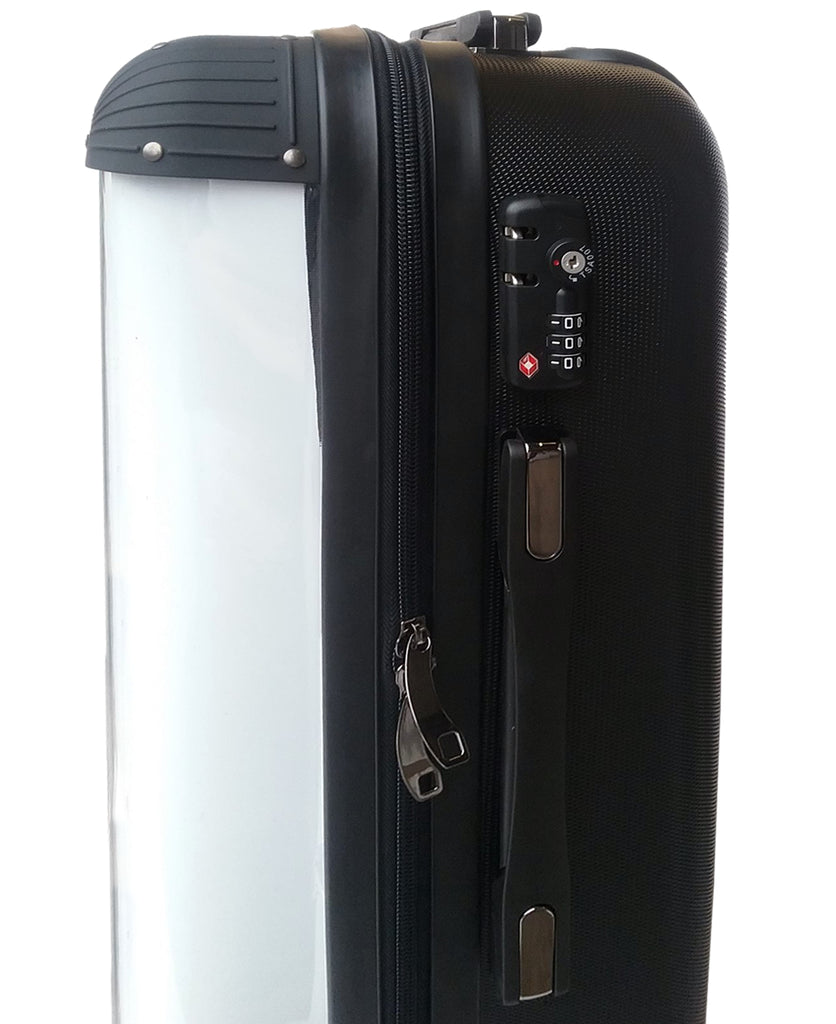 Personalised Nude with Black Font Initial Suitcase