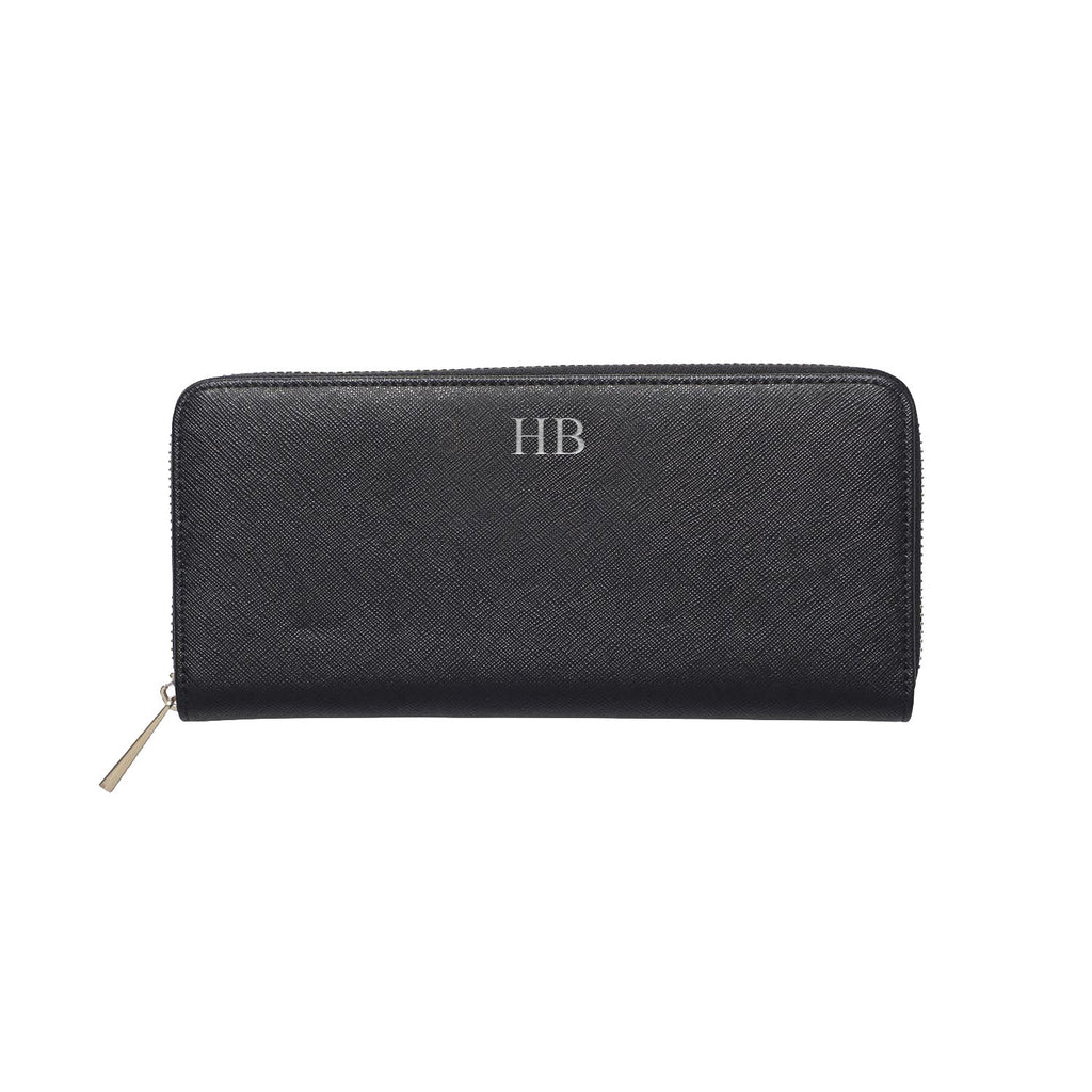 Black Saffiano Leather Purse Wallet