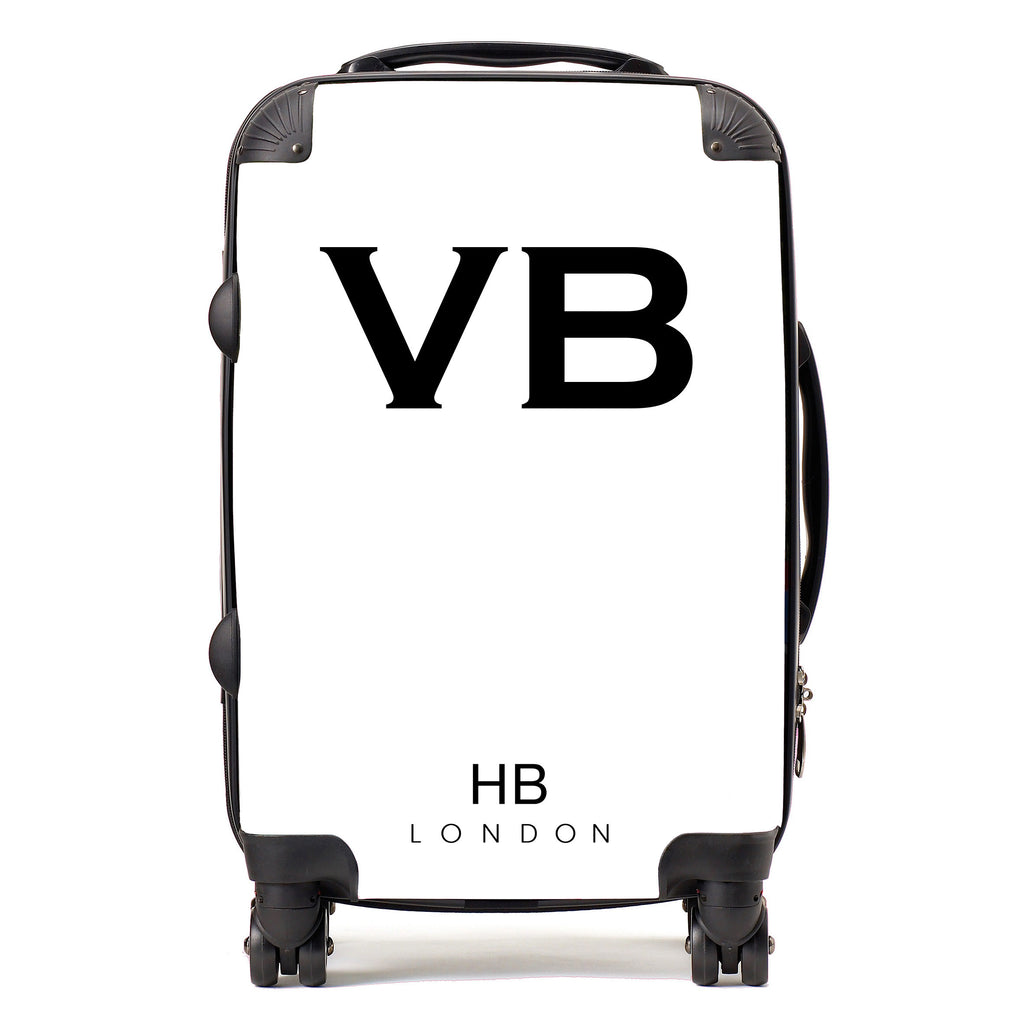 Personalised White Initial Suitcase