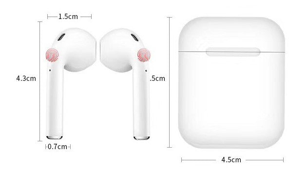 Personalised White with Pink Font Initial HD Ear Pods