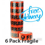 Fragile Tape 6 Pack