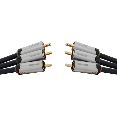 High Quality 3 x RCA Plugs to 3 x RCA Plugs - 5m