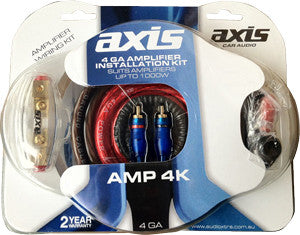 AXIS AMP4K HIGH POWER 4GA AMPLIFIER WIRING KIT