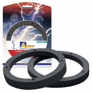 "AERPRO AP3161B 6.5"" BLACK MDF SPACERS (PAIR)"