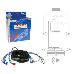 Aerpro APFH6B 5m Fast Harness with RCA's