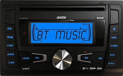 AXIS AX1504BT 12v/24v D/DIN CD RECEIVER with BLUETOOTH