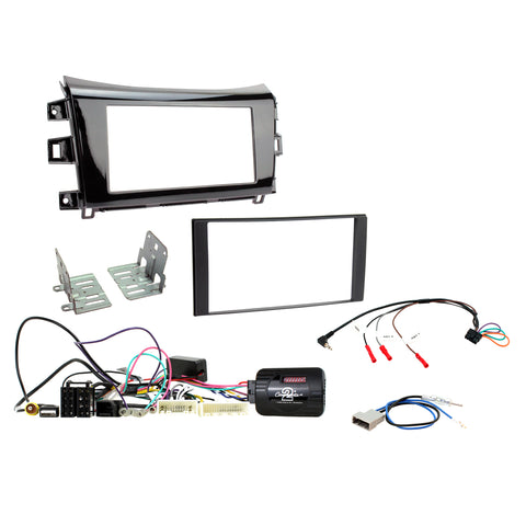Aerpro FP9109BK Double din install kit to suit Nissan Navara NP300  ST/STX - Gloss Black