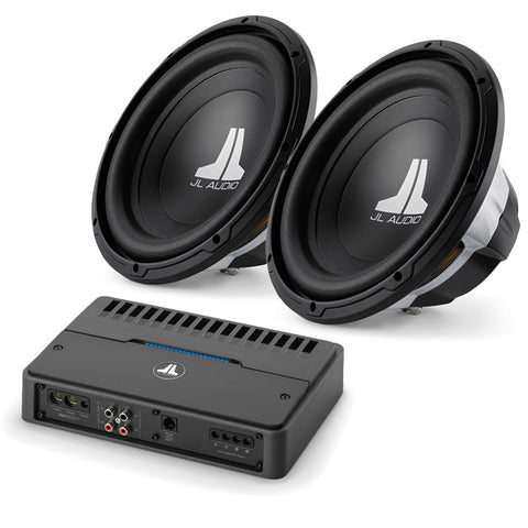 JL Audio Dual 12W0v3 & RD500/1 Subwoofer Package