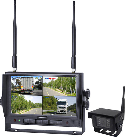"AXIS JS007WQK - 7"" Heavy Duty Wireless Reversing System with Built In DVR"