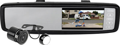 "AXIS JS043BT - 4.3"" LCD CLIP-ON REARVIEW MIRROR & CAMERA with Bluetooth"