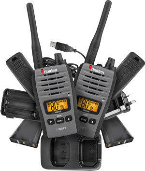 UNIDEN UH810S-2  1 Watt Hand Held UHF CB RADIO - TWIN PACK