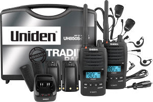 UNIDEN UH550-2 5 Watt Hand Held UHF CB RADIO - TRADIES PACK