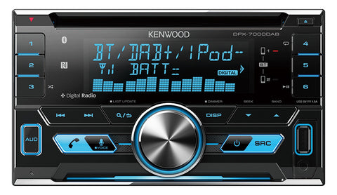 KENWOOD DPX-7100DAB Double Din Bluetooth Player with DAB+