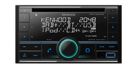 KENWOOD DPX-7200DAB Double Din Bluetooth Player with DAB+