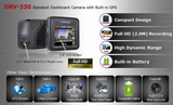 Kenwood DRV-330 Full HD 1080P Dash Cam With GPS