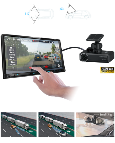 KENWOOD DRV-N520 DASH CAM with Built-In A.D.A.S.
