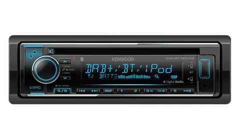 KENWOOD KDC-BT720DAB CD/MP3/USB/TUNER with DAB+ Digital Radio