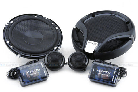 "KENWOOD KFC-M614P 6.5"" Component Speakers"