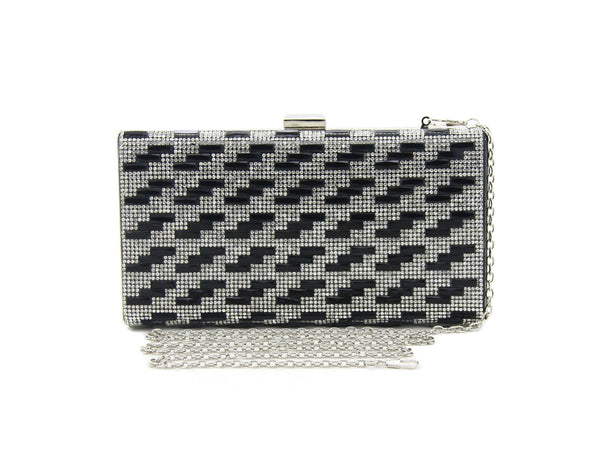 C16MR663BK Rocky Crystal Minaudiere (Black)