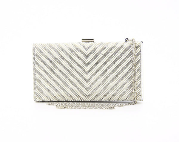 C16MR661SI Chevron Clutch (Silver)