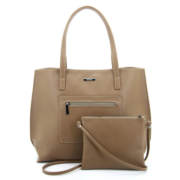 C17FE744TP 2-IN-1 TOTE BAG AND SLING (TAUPE)