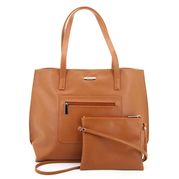 C17FE744TN 2-IN-1 TOTE BAG AND SLING (TAN)
