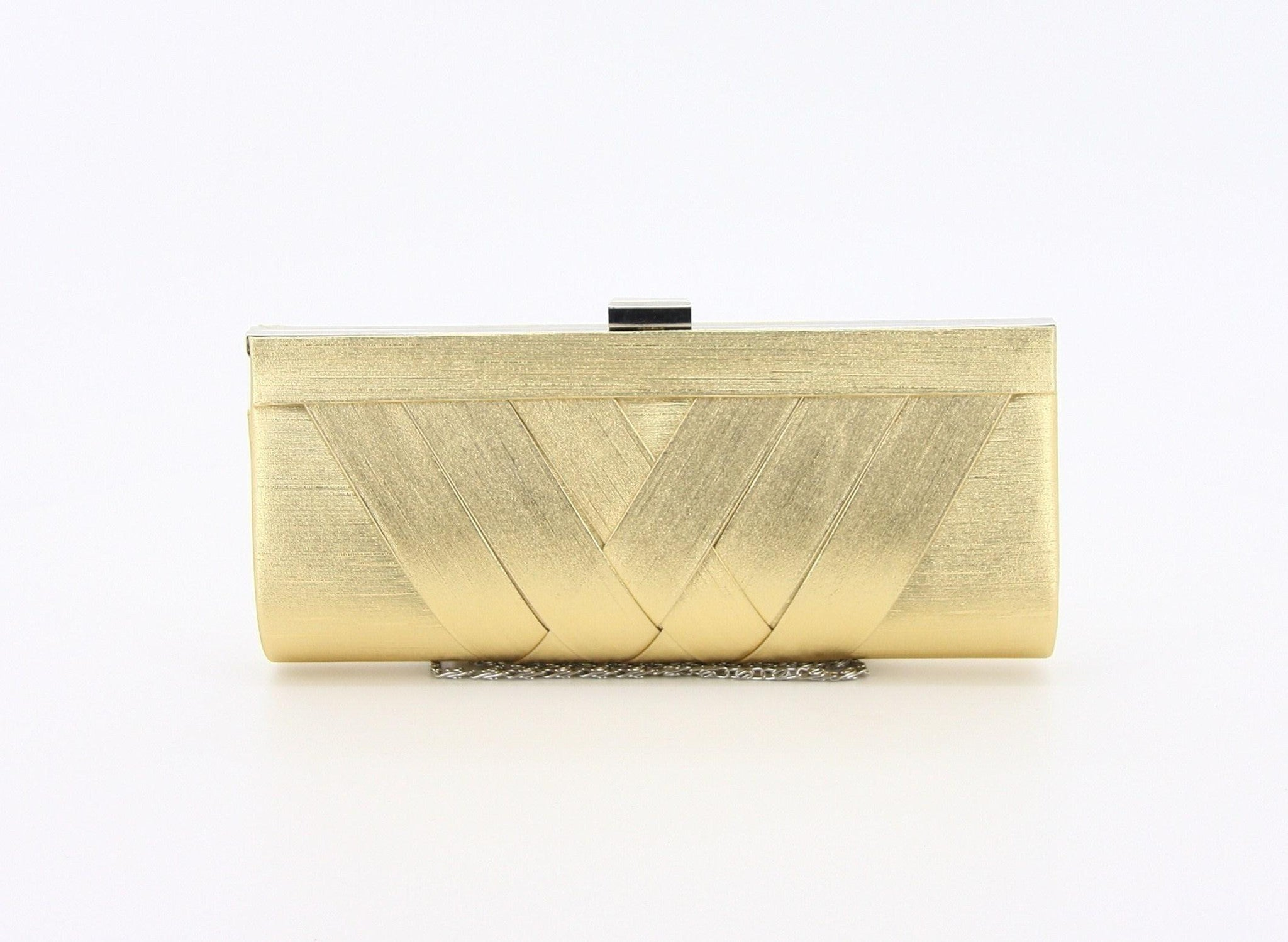 C16JL697GO Woven Satin Clutch (Gold)
