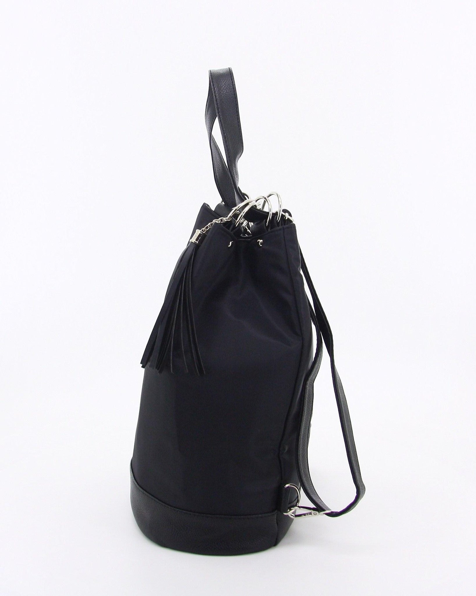 C17MR749BK 3-WAY BUCKET BACKPACK SLING BAG (BLACK)