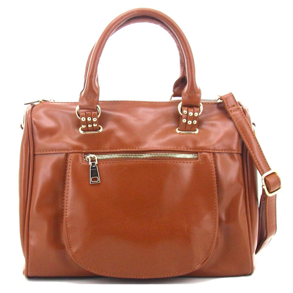 C15AU629BR Luxe Bowler Bag (Brown)