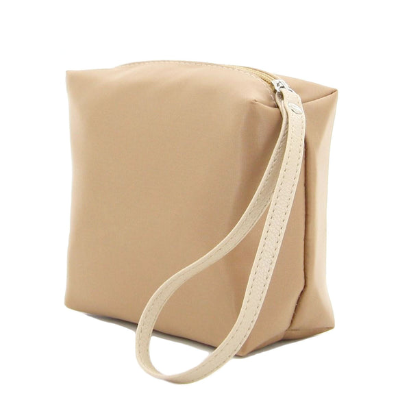 C16AU717BE BELLE COSMETIC NYLON TRAVEL POUCH (BEIGE)