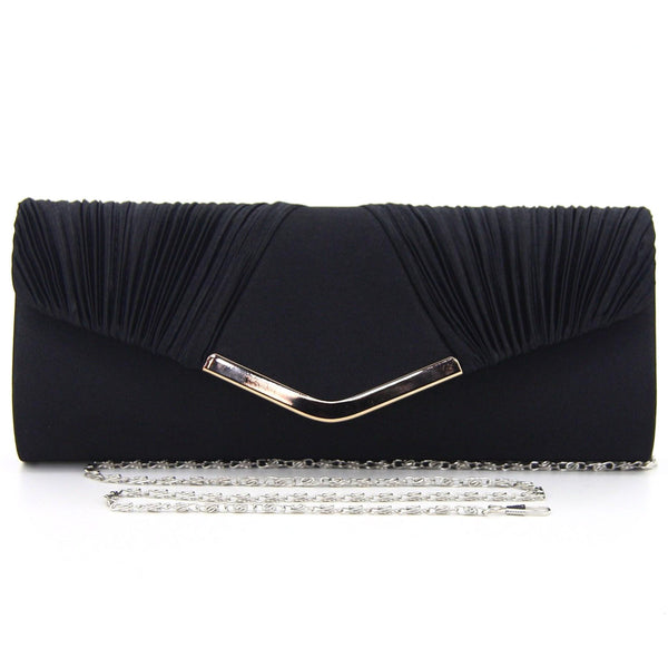 C16JL696BK Nightfall Pleated Clutch (Black)