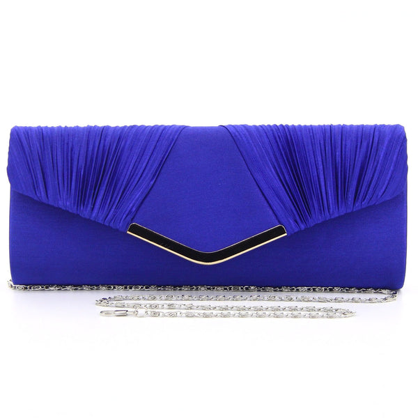 C16JL696BL Nightfall Pleated Clutch (Blue)