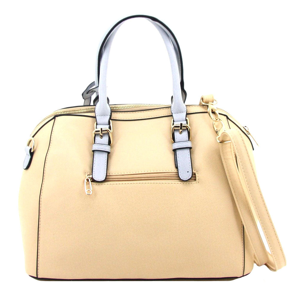 C16MR657BE 2-Tone Saffiano Doctor's Bag (Beige)