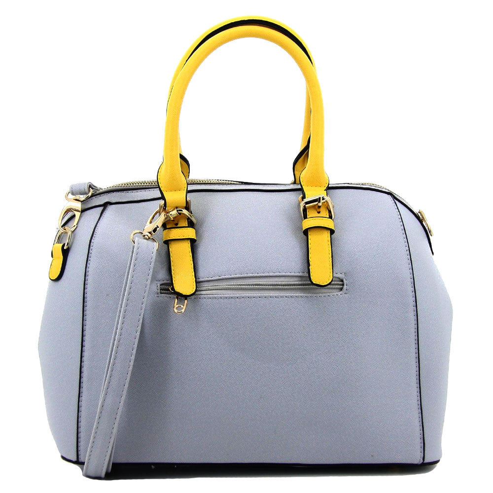 C16MR657BL 2-Tone Saffiano Doctor's Bag (Pale Blue)