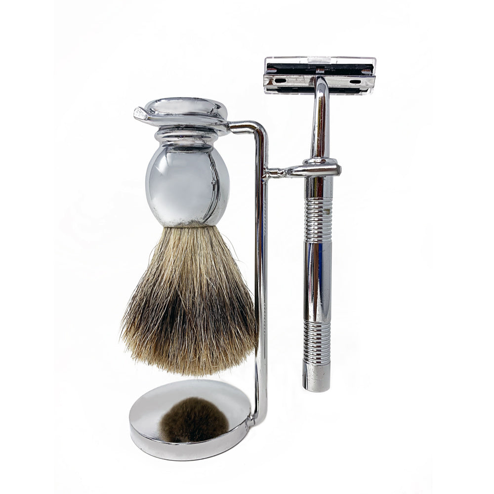 Sir Reginalds 3pc Shaving Kit CHROME by  Sir Reginalds