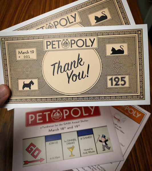 PETOPOLY - a GAIN Fundraising Dinner