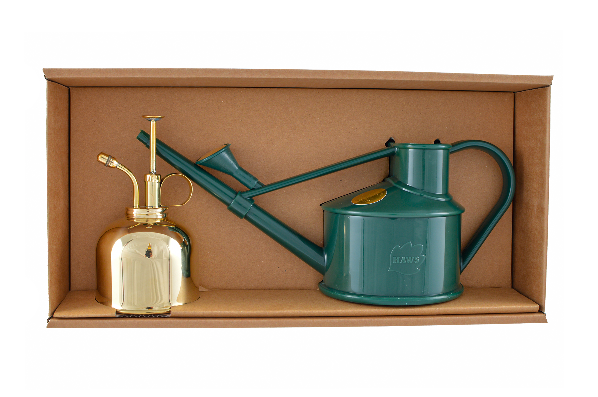 Green Langley Sprinkler & Brass Smethwick Spritzer, haws watering can