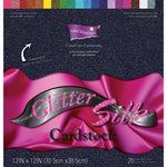 Darice Core'dinations Cardstock Pack. 12x12 - Glitter Silk - Memories and Photos