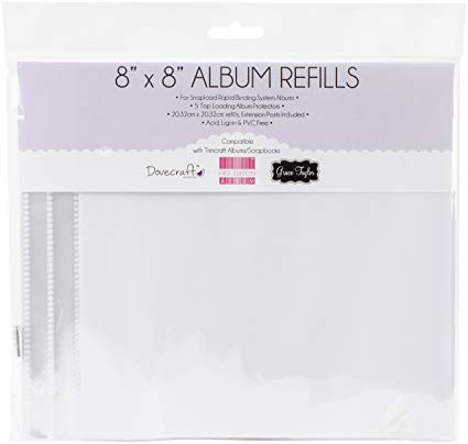 "8""x8"" scrapbook album refill pages"