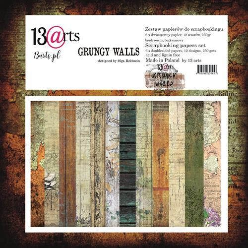 "12"" x 12"" paper pack - Grungy Walls - Memories and Photos"
