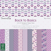 "Dovecraft 12"" x 12"" paper pack - Berry Blush"